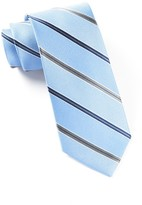 The Tie Bar Light Blue Vocal Stripe Tie