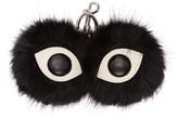 Stella McCartney Black Faux-fur Eyes Keychain