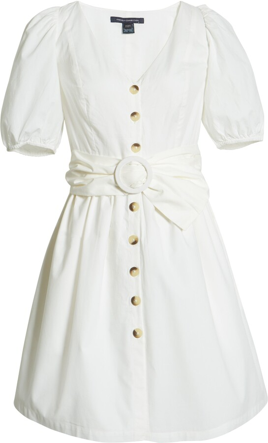 Thumbnail for your product : French Connection Besima Belted Cotton Poplin Dress