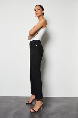 Karen Millen High Rise Black Straight Jeans