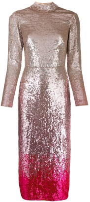 Temperley London Opia sequined cocktail dress