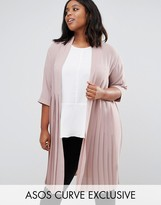 Asos Longline Soft Blazer With Pleated Back