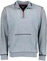 True Grit Indigo Slub Fleece Quarter-Zip Pullover