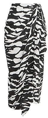 Isabel Marant Women's Fabiana Draped Zebra Skirt