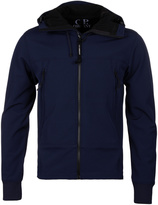 Cp Company Navy Cp Shell Hooded Goggle Jacket
