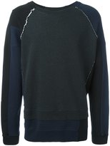 Maison Margiela raw edge seam sweatshirt - men - Cotton - 46