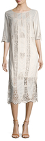 Figue Corrine Kaftan Lace Paneled Shift Dress