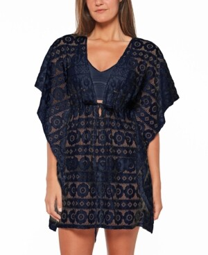 Jessica Simpson Crochet Cover-Up Women's Swimsuit