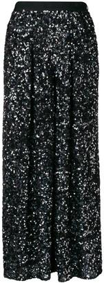 Talbot Runhof Wide-Leg Culotte Trousers