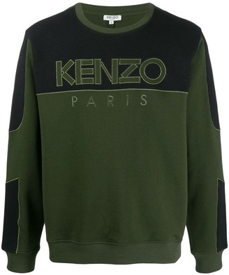 Kenzo mesh panel sweatshirt
