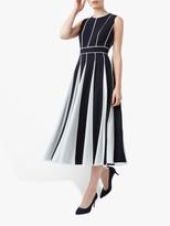Hobbs Grace Dress, Navy/Ivory
