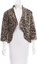 Thakoon Wool-Blend Leopard Print Jacket