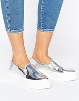 Sixty Seven Sixtyseven Flatform Metallic Sneaker