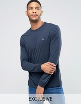 Jack Wills Dunsford Long Sleeved T-Shirt in Navy