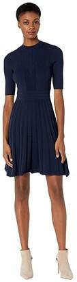Ted Baker Olivinn Stitch Detail Dress (Navy) Women's Clothing
