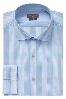 Van Heusen Men's Dress Shirt Flex Collar Slim Fit Check