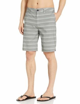 Quiksilver Young Mens Stripe Amphibian 21 Hybrid Short Shorts