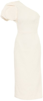 Rebecca Vallance Andie crepe one-shoulder midi dress