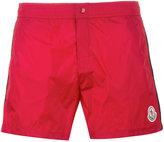 Moncler logo plaque swimming trunks - men - Nylon/Polyamide/Polyester - XL