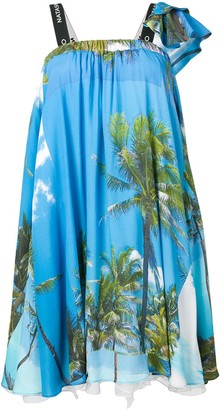 Natasha Zinko Palm Trees Print Mini Bell Dress