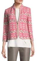 St. John Multicolor Chevron Knit Jacket