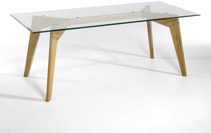 Thumbnail for your product : Am.pm. Kristal Glass/Solid Oak Rectangular Table (Seats 8)