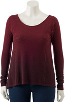 Rock & Republic Plus Size Crisscross-Back Sweater