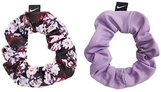 Nike Gathered Hair Ties 2-Pack (Little Kids/Big Kids) (Violet Star/Obsidian/White) Hair Accessories