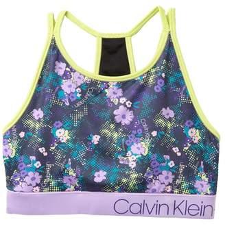 Calvin Klein Performance Floral Splash Sports Bra (Big Girls)