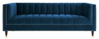 Nicole Miller Bahara Sofa Upholstery Color: Navy/Gold
