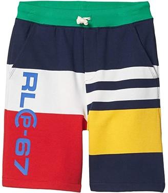 Polo Ralph Lauren Kids Cotton-Blend-Fleece Short (Big Kids) (White Multi) Boy's Shorts