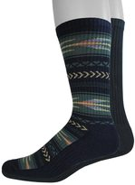 Dockers Men's 2-pack Southwestern and Solid Crew Socks