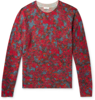 Dries Van Noten Floral-Print Knitted Sweater