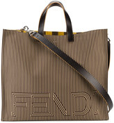 Fendi large logo tote bag - men - Cotton/Leather - One Size