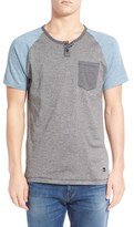 Imperial Motion Men's 'Lefty' Short Sleeve Colorblock Henley