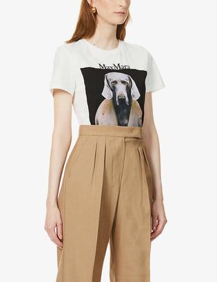 Max Mara Abetaia brand-print cotton-jersey T-shirt
