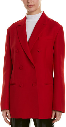 Valentino Double-Breasted Silk & Wool-Blend Blazer