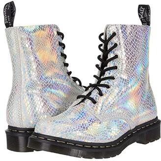 Dr. Martens 1460 Snake Metallic (Purple Snake Metallic Suede) Women's Lace-up Boots