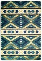 Wolala Home Fashion Ethnic Style Geometric Lattice Washable Non-slip Area Rugs 4 Feet by 5 Feet 6 Inch