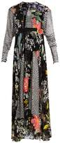 Preen by Thornton Bregazzi Audrey contrast-print devoré dress