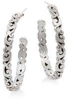Lois Hill Sterling Silver Scroll Hoop Earrings