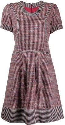 Chanel Pre Owned Flared Tweed Dress