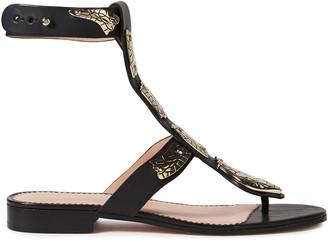 Red(V) Sin Appliqued Leather Sandals