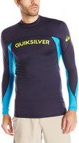 Quiksilver Men's Performer Long Sleeve Rash Guard, Navy Blazer/Hawaiian Blue