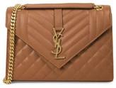 Saint Laurent Large Envelope Monogram Matelasse Suede Shoulder Bag