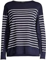 Lafayette 148 New York Striped Sheer Sweater