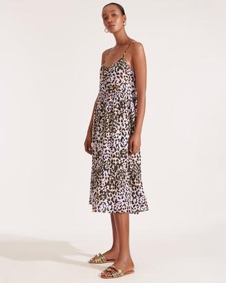 Veronica Beard Ayesha Leopard Cover-Up Dress