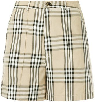 Andrea Crews snap button checked shorts