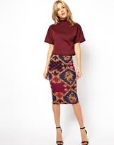 Asos Pencil Skirt in Baroque Print