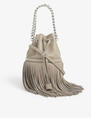 J&M Davidson Carnival fringed mini leather bag